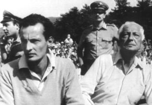 TURIN, ITALY - AUGUST 1985: A picture taken August 1985 shows Fiat honorary president Gianni Agnelli (R) and his son Edoardo Agnelli (L) watching the Juventus Turin soccer team train in Villarperosa, near Turin. Edoardo Agnelli, 46, was found dead Wedneday 15 November 2000 near a highway in northern Italy, police said. Initial reports said his body was found below a highway overpass while his car was parked near a viaduct. The younger Agnelli never held a post in Fiat, the biggest Italian industrial group founded by the Agnelli family 100 years ago. (Photo by AFP/Getty Images)