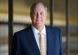 David H Koch has his portrait taken in the NY State Theater at Lincoln Center. Koch is donating $100 million to have the theater made in his name. Koch is New York's wealthiest resident worth an estimated $17 billion. (Robert Caplin/ Rapport) (Newscom TagID: rpphotos006332) [Photo via Newscom]
